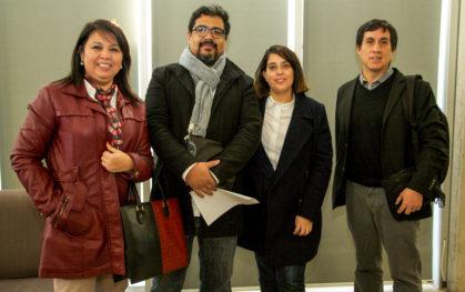 Noemí Huaiquimil, Cristián Alvarado, Nicole Forttes y José García
