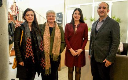Margarita Hans, Cristina Felsenhardt, Alejandra Amenábar y Sergio Majluf