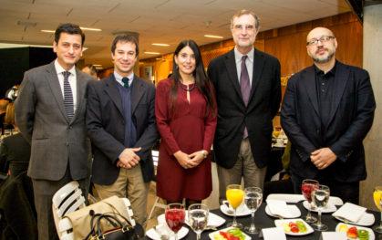 Pablo Allard, Lucas Palacios, Alejandra Amenábar, José María Ezquiaga y Yury Grigoryan