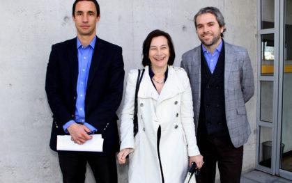 Juan Carlos Jobet, Rosanna Costa y Gonzalo Blumel