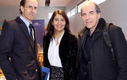 Carlos Williamson, Jessica Cartajena y Álvaro Fischer