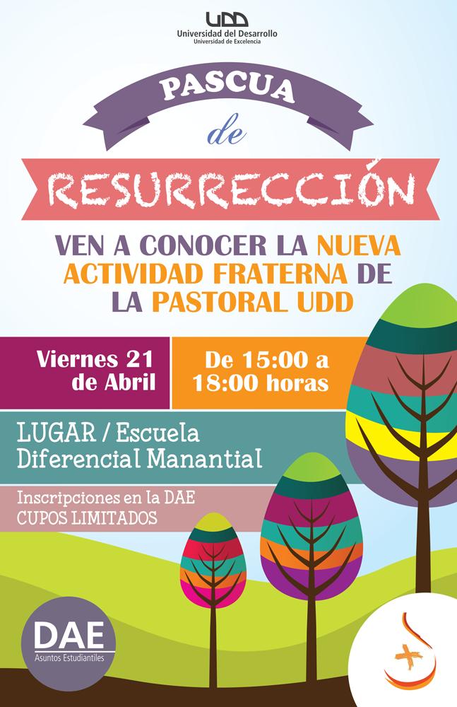 Celebra Esta Pascua De Resurrección Junto A La Pastoral Udd