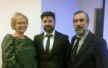 Denise Saint-Jean, Cristian Candia y Carlos Rodriguez-Sickert