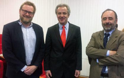 Tamas David-Barrett, Federico Valdes y Eugenio Guzmán