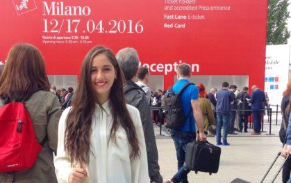 Javiera Vidal en Milán