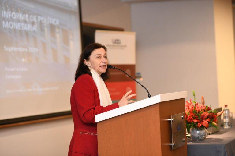 Consejera del Banco Central, Rosanna Costa, presentó el IPoM en la UDD